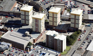Kirkgate Flats  Wakefield, West Yorkshire from the air