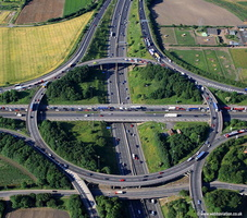 Lofthouse interchange near  Leeds  Yorkshire   aerial photograph