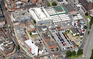 the old Wakefield market area taken in 2007 before it was replaced with  Trinity Walk  shopping centre, Wakefield from the air