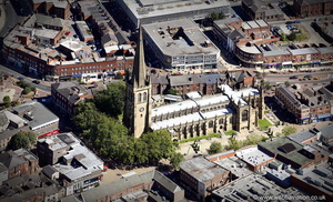 Wakefield Cathedral from the air