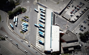 Wakefield bus station from the air