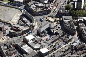 Wakefield town centre from the air