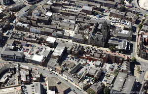 Wood St  Wakefield West Yorkshire from the air
