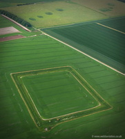 ancient enclosure near Bishops Cannings  Wiltshire aerial photograph