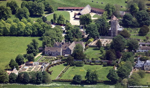 Avebury Manor and Alexander Keiller Museum aerial photograph