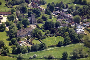 Avebury village aerial photograph