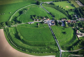 Avebury stone circle and  henge monument aerial photograph