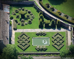 Avebury  Manor Topiary Garden aerial photograph