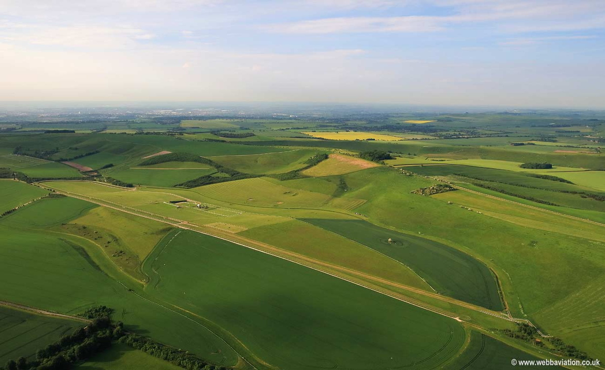 Barbury Racecourse, Wroughton, Wiltshire, home of the Barbury Horse Trials aerial photograph
