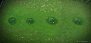 Bishops Cannings Round Barrows Wiltshire aerial photograph