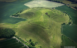 Cley Hill iron age hill fort aerial photograph