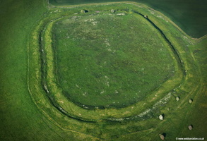 Liddington Castle bronze age hillfort  aerial photograph