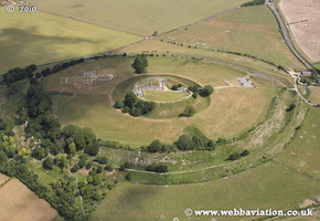 Old Sarum Wiltshire England aerial photo