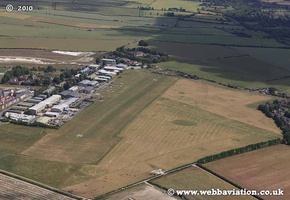 Old Sarum Aerodrome Wiltshire England aerial photo