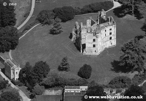 Old Wardour Castle  Wiltshire  aerial photo