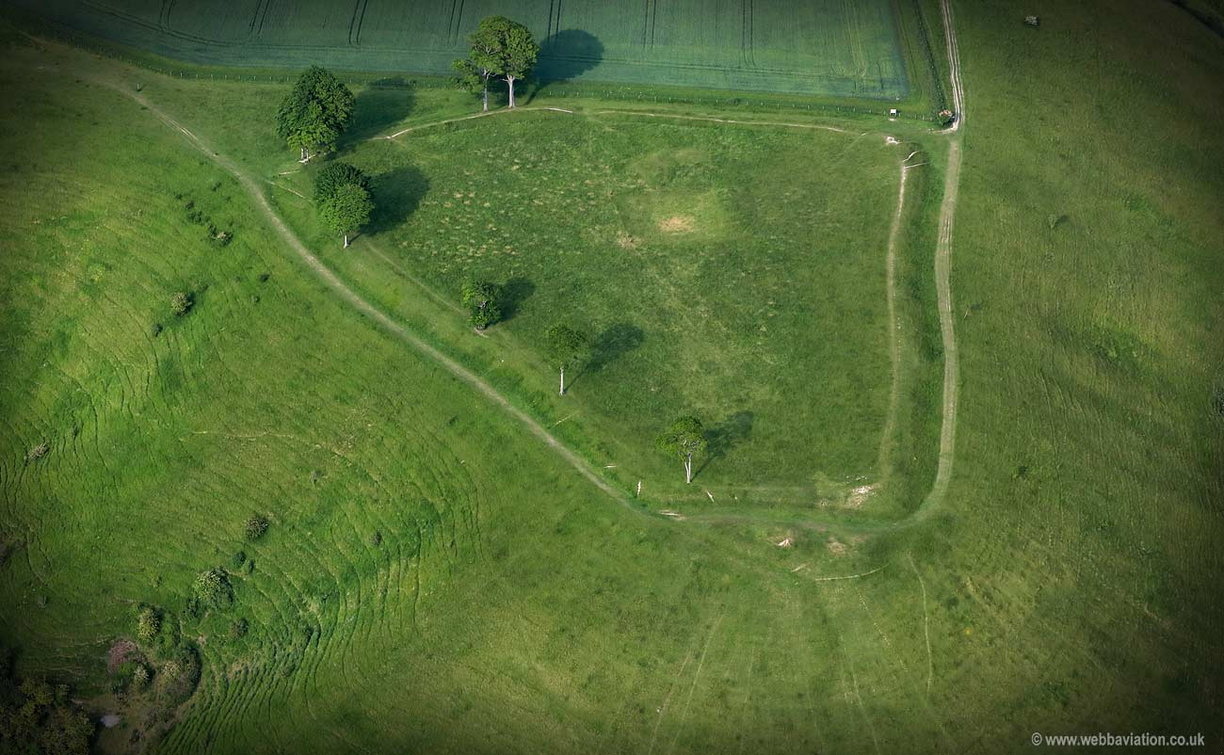 Oliver's Castle hill fort  Wiltshire,   aerial photograph