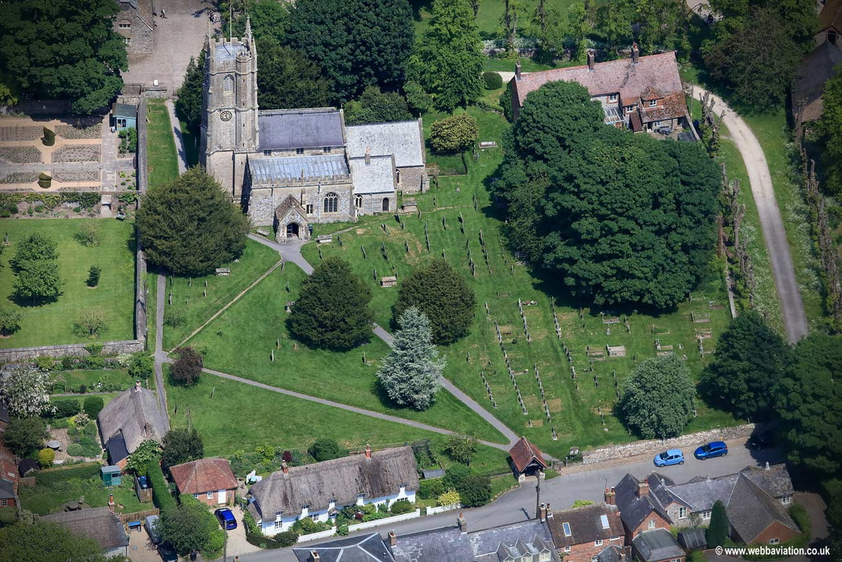 St James's Church  Avebury   aerial photograph