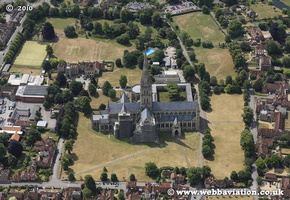 Salisbury Cathedral aerial photo
