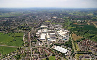 Canal Road Industrial Estate Trowbridge   Wiltshire aerial photograph