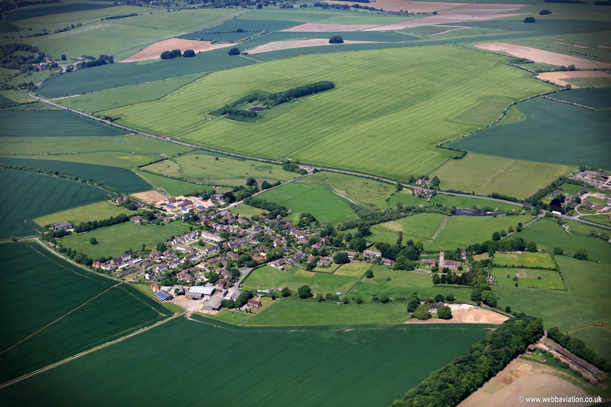 West Overton  Wiltshire  aerial photograph