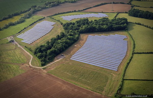 Hakweridge Solar Farm near Westbury  aerial photograph