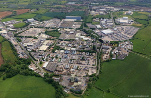 West Wilts Trading Estate Westbury aerial photograph