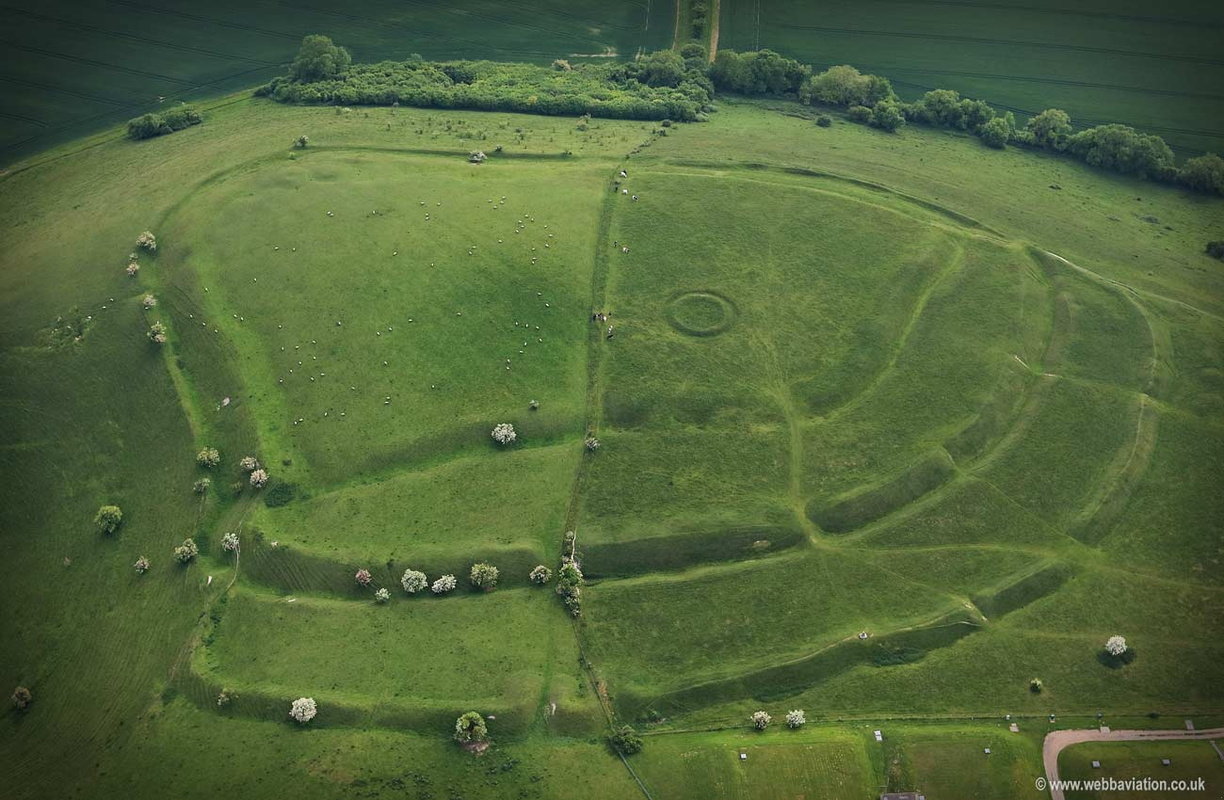 Whitesheet Hill fort  aerial photograph