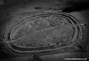 Barbury Castle  Iron age hillfort aerial photo