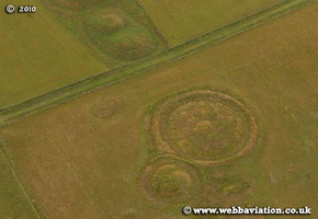 tumuli near Stonehenge   aerial photo