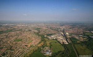 Swindon  Panoramic aerial photograph