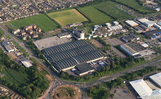 WH Smith site Swindon UK aerial photograph