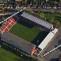 County Ground stadium Swindon, aerial photograph