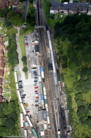 Bewdley railway station from the air