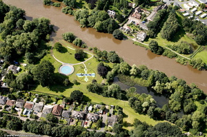 Riverside North Park Bewdley from the air