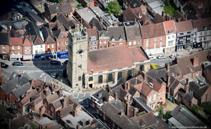 St Anne's Church Bewdley  from the air