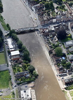 Bewdley Flood defences scheme   from the air