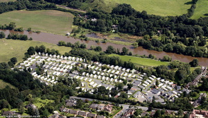 Park Home Riverside Caravan Park Bewdley  from the air