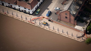 demountable flood defences from the air