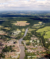 The River Severn  Bewdley from the air