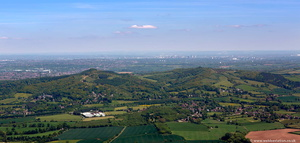 Clent Hills Warwickshire  from the air