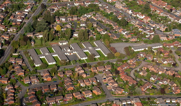 Lawley Way  Droitwich Spa from the air
