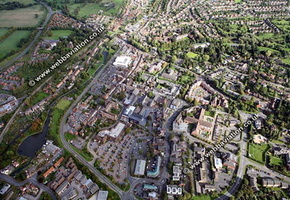 Droitwich Spa Worcestershire aerial photograph