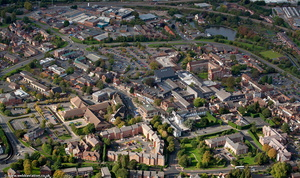 Droitwich Spa  town centre from the air