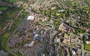 Droitwich Spa from the air