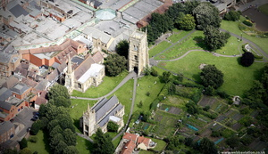 Evesham Abbey  from the air