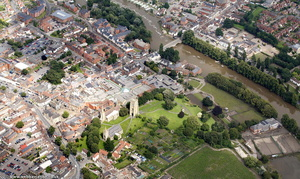 Evesham Worcestershire from the air