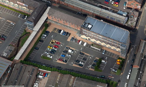 Victoria Carpet works Kidderminster from the air