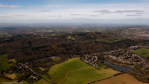 The Lickey Hills Worcestershire  from the air