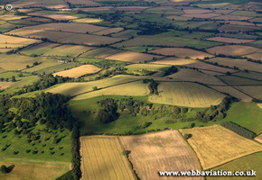 Meon Hill Iron Age Hillfort Worcestershire aerial photograph
