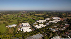 Moons Moat North Industrial Estate, Redditch from the air